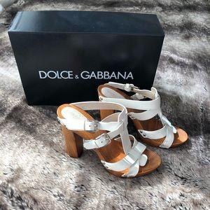 Authentic Dolce & Gabbana Chunky Heel Sz 38